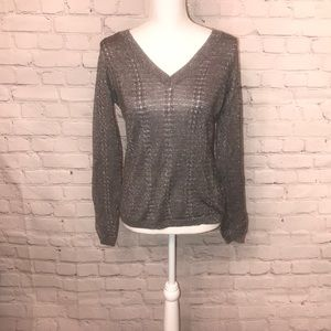 New York & Company Gray V-neck sweater
